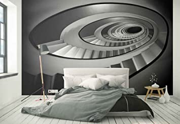 Papel Tapiz Fotomural - Escalera De Espiral Sin Fin Patrón - Tema Arquitectura - MUESTRA - 104cm x 70.5cm (