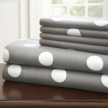 spirit linen hotel 5th ave 6 piece elegant home polka dot sheet set queen