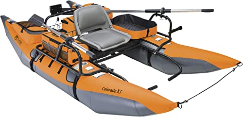 Inflatable Pontoon Boat With Transport Wheel & Motor Mount (Colorado) [Classic Accessories] Picture