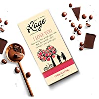 Rage I Love U Dark Almond Chocolate - 90 GMS