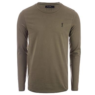 f95180b1 Religion Mens Mens Long Sleeve Muscle T-Shirt in Khaki - XL: Religion:  Amazon.co.uk: Clothing
