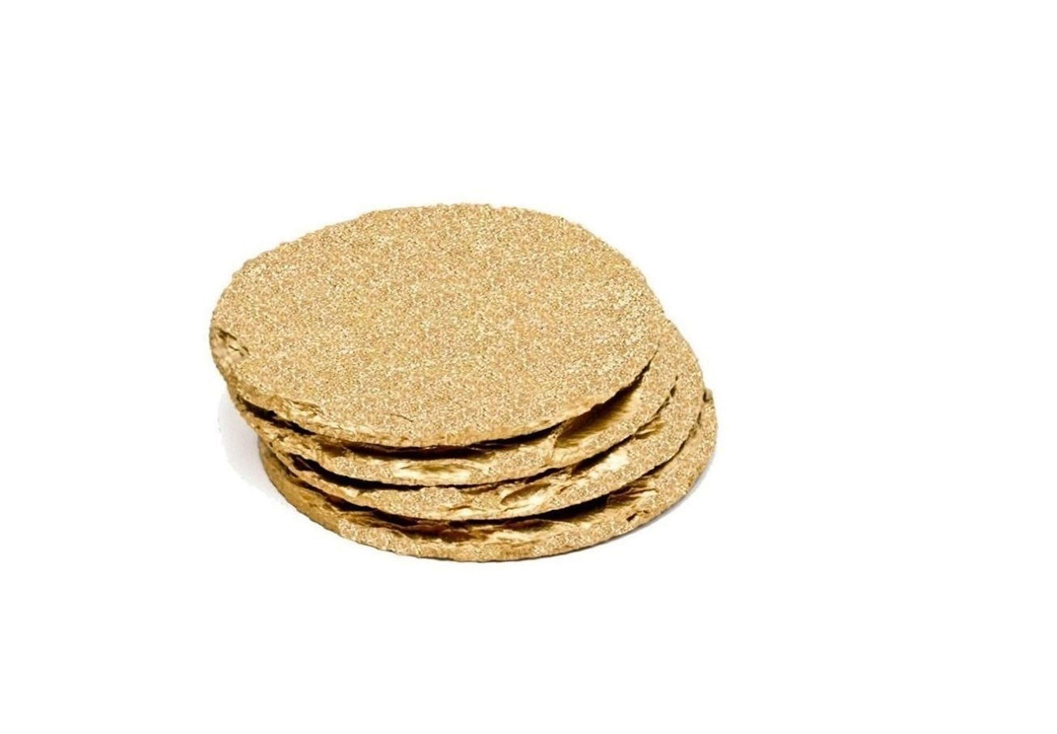 Renee Redesigns Handmade Gold Slate Glitter Coasters For Drinks | Protect Your Table Tops From Drink Rings and Spills | Unique 4-Piece Holiday Glitz Gift Set, Round - 4 x 4 inches