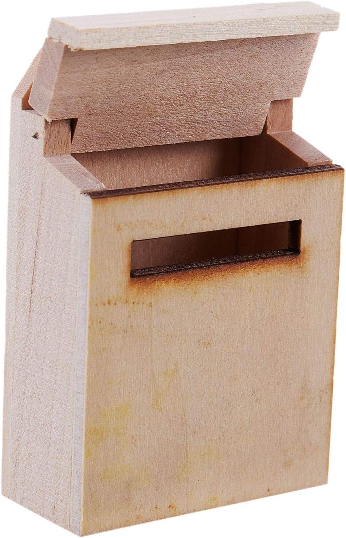 RETYLY 1//12 Holz Briefkasten Puppenhaus Miniatur Fee Garten Dekor Holz Farbe