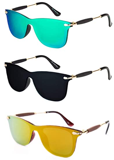 1f0b9416c5d THEWHOOP UV Protected Wayfarer Men s and Women s Sunglasses Combo  (10002008