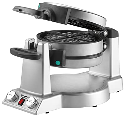 Waring WMR300 Belgian Waffle & Omelet Maker, Brushed Stainless Steel