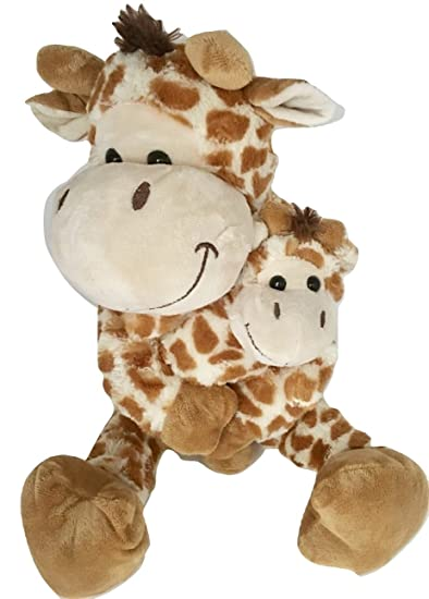 6ebbf1825 Buy Kelly Toy Giraffe Plush Animal - Huggable Mommy   Baby. Soft Stuffed  Mama With Velcro Hands Online at Low Prices in India - Amazon.in