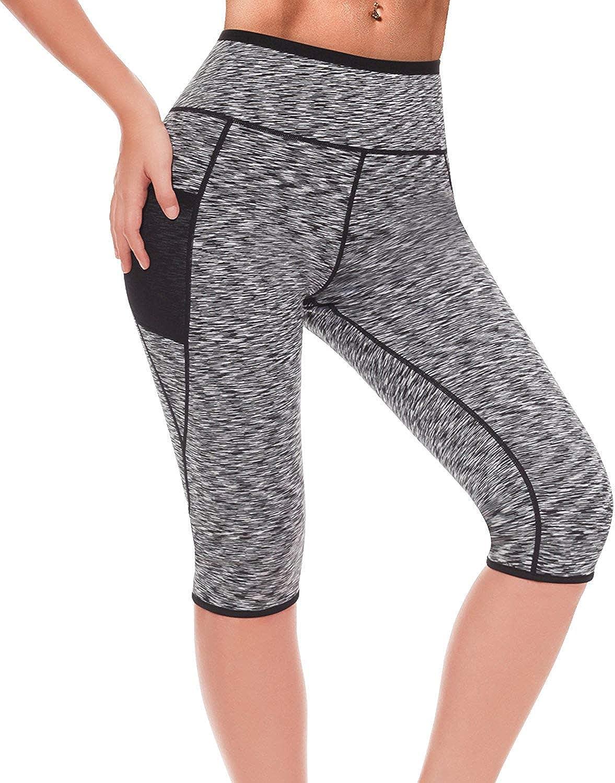 LAZAWG Women Slimming Sweat Weight Loss Shorts Hot Thermo Neoprene Pants Shaper