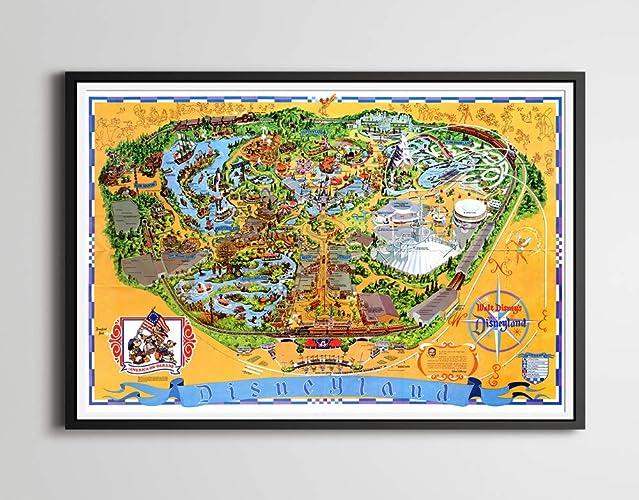 Amazon.com: Vintage 1976 DISNEYLAND Park Map POSTER (Full-Size 24