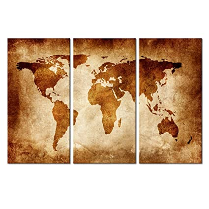 Amazon large size vintage world map poster printed on canvas large size vintage world map poster printed on canvasretro world map printing mural art gumiabroncs Images