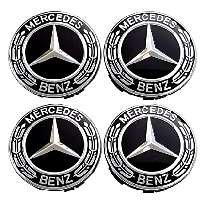 Juego de 4 tapacubos de Repuesto para Mercedes Benz de 75 mm ...