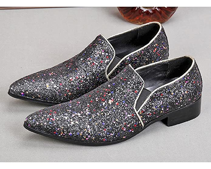 Size 5-12 New Fashion Grey Leather Mens Slip On Formal Dress Suit Party Loafers Shoes