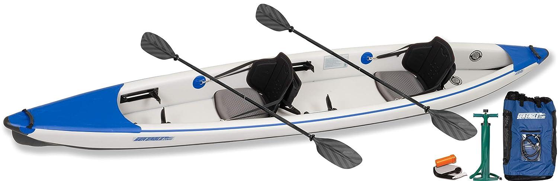 SEAMAX Ocean320 Heavy Duty 10.5 Feet Inflatable Boat with Rigid Aluminum Floor and V-Shape Soft Bottom