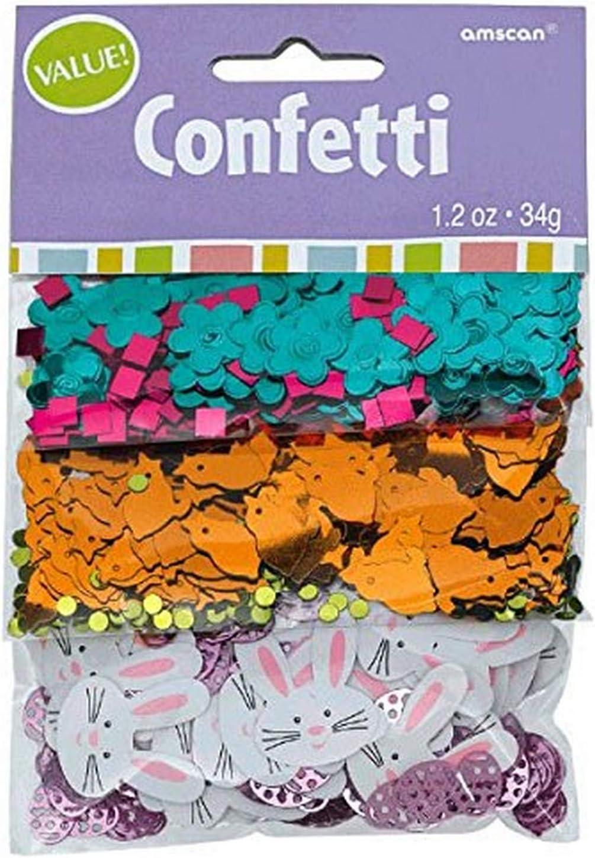 3er-Pack amscan International 360590/31,8/g Ostern Basic Konfetti Mix
