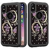 for iPhone Xs MAX Glitter Case,QFFUN Bling
