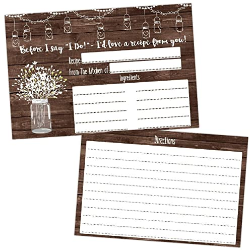 bridal shower recipe cards party game bride to be new wedding couple gift