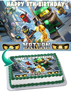 Marvelous Amazon Com Ninjago Lego Fighting Warriors 1 4 Sheet Edible Photo Funny Birthday Cards Online Inifofree Goldxyz