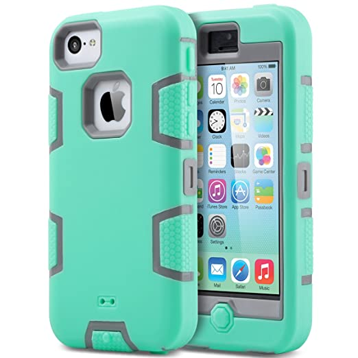 ULAK Cover iPhone 5C Custodia Ibrida a Protezione Integrale con