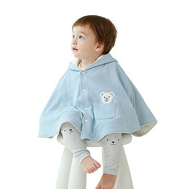 856d2b0bacfc Amazon.com  pureborn Baby Toddler Hooded Cape Cute Cartoon Fox Cloak ...