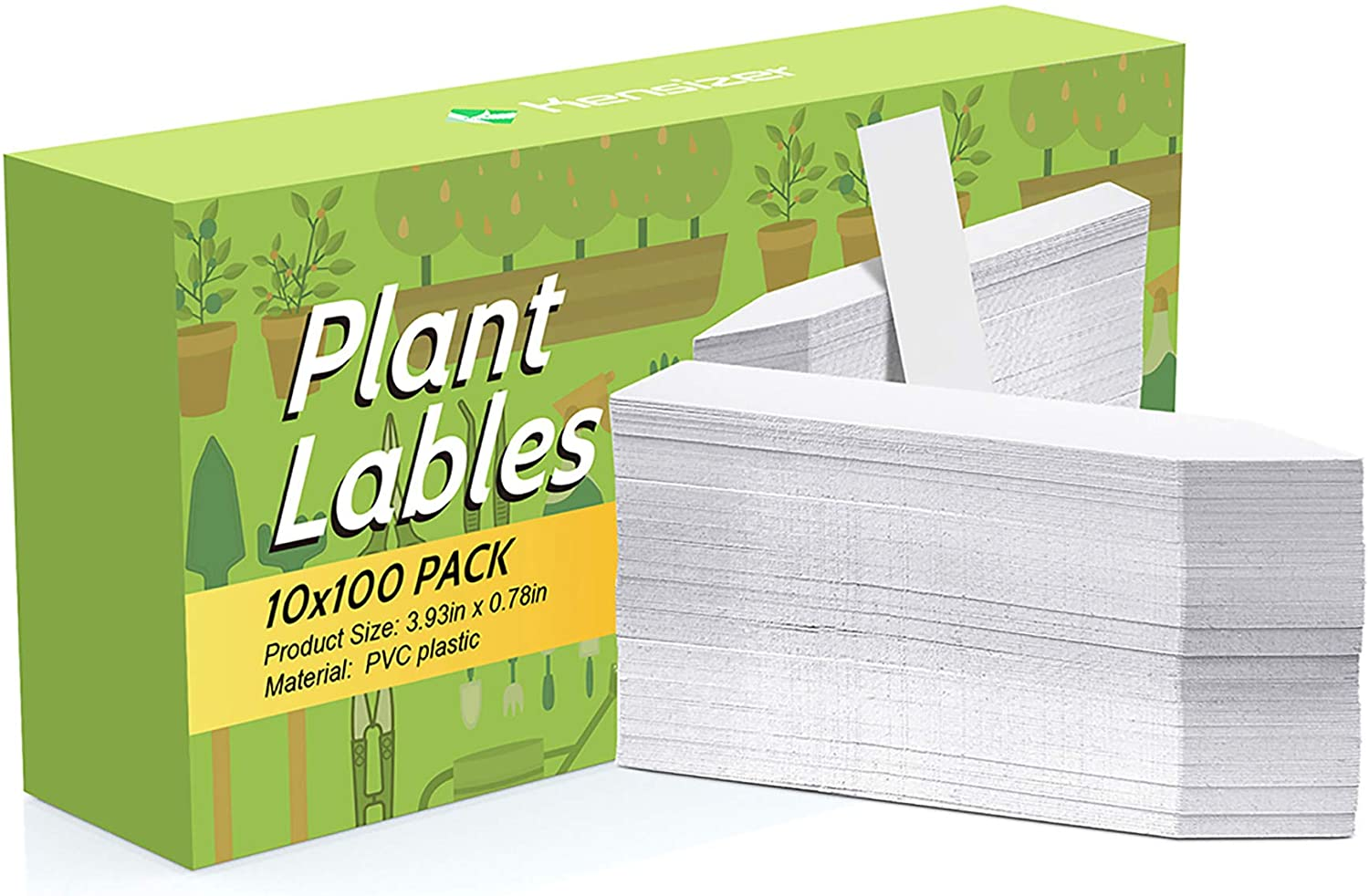 Kensizer 1000 Pcs 4 Inch Plastic Waterproof Plant Labels, Plant Name Tags, Garden Labels for Plants Marker