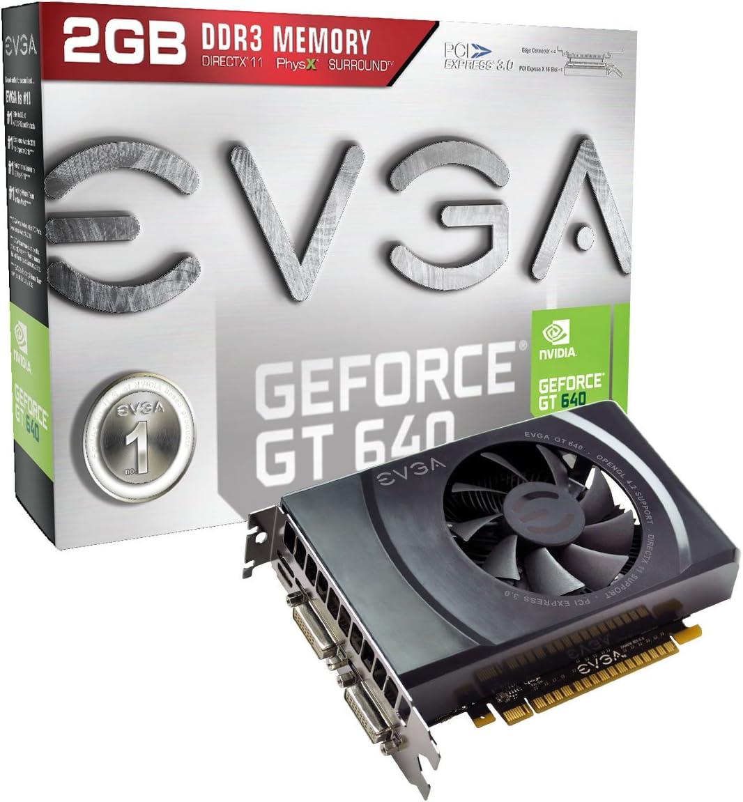 EVGA GeForce GT 640 2048MB GDDR3 Dual DVI, mHDMI Graphics Cards 02G-P4-2643-KR