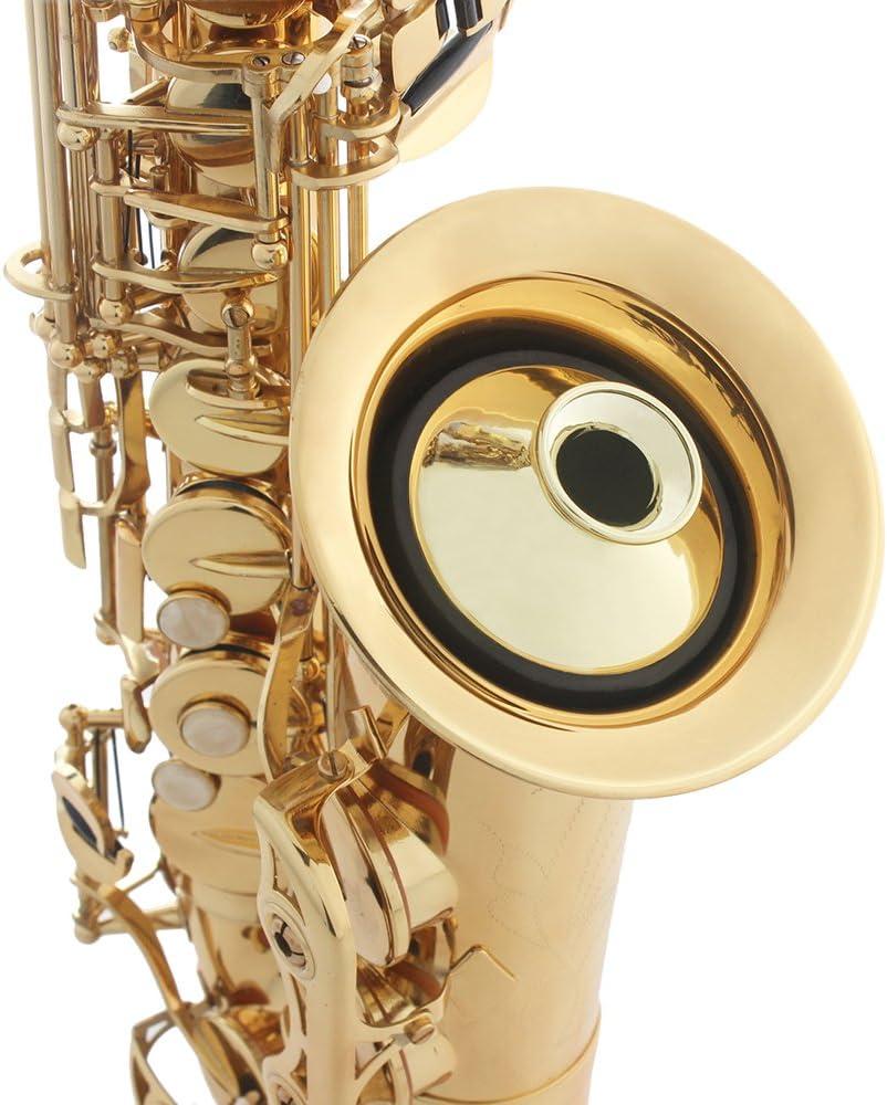 1x Altsaxophon Sax Mute Schalldämpfer Holzblasinstrument Teile Schwarz