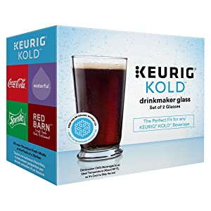 Keurig Kold Drinkmaker Glass Set of 2