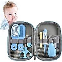 Set para Cuidado del Bebé, 8 En 1 Set Neceser para Cuidado del Bebé con Cuchara De Oreja, Cortaúñas, Aspirador Nasal…