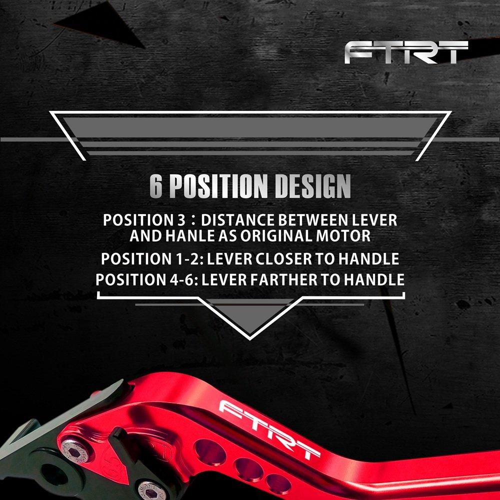 MT-09//FZ-09 2014-2018 FTRT Palancas embrague de freno para Yamaha MT-07//FZ-07 2014-2018 FZ6R 2009-2015 FZ1 FAZER 2006-2015,XSR 700//900 2016-2018,Negro