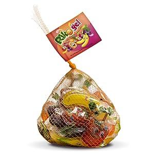 RikoGel Gely Fruit Flavored Squeezable Jellies 40 ml - Gelatinas de Frutas 25 unidades (Pack of 12)