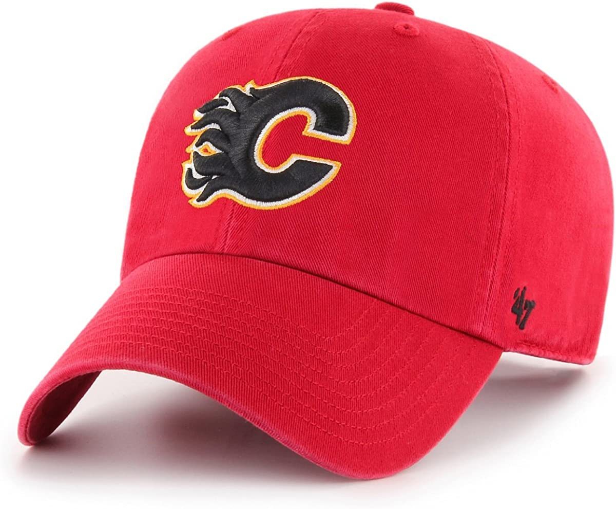 Clean UP Calgary Flames red 47 Brand Adjustable Cap