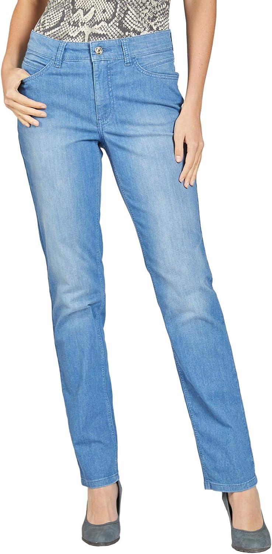 MAC Jeans Damen Hose Melanie blau-mittel Clean Light Blue Wash