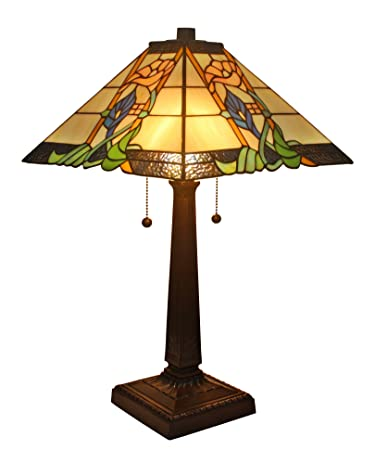Amora lighting am058tl14 tiffany style mission table lamp 23 inches