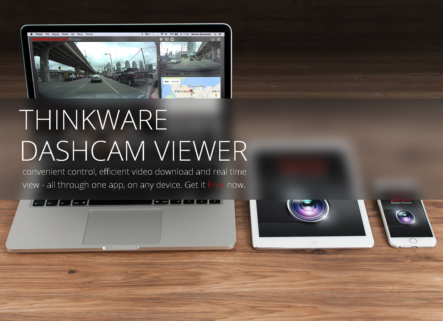 THINKWARE TW-F750D16 F750 2-Channel Dash Cam, 1080P HD Front & Rear, Sony Exmor Sensor, Wi-Fi, Dual Save Technology, Parking Mode, GPS, 16GB SD Card by Thinkware (Image #5)