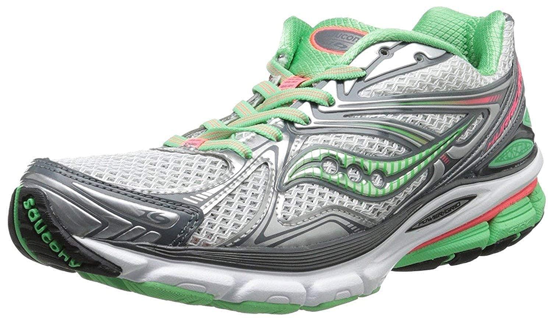 2f3143ed Saucony Women's Hurricane 16 Running Shoe, Grey/Green/Pink, 3 W UK ...