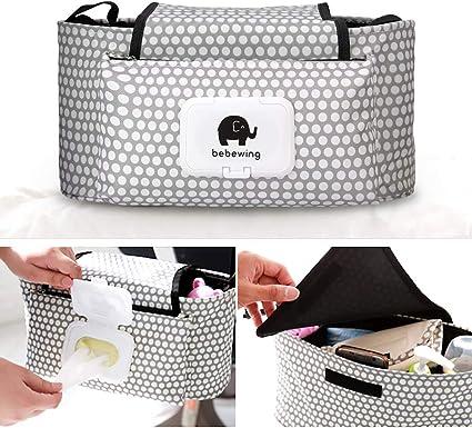 UK Baby Stroller Storage Bag Organizer Pram Buggy Pushchair Cup Diaper Hanging