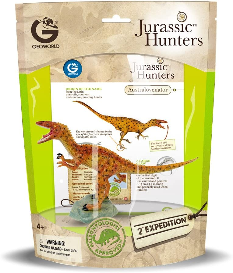 GeoWorld CL364K Australovenator Jurassic Hunters Dinosaur Model Toy Replica NIP