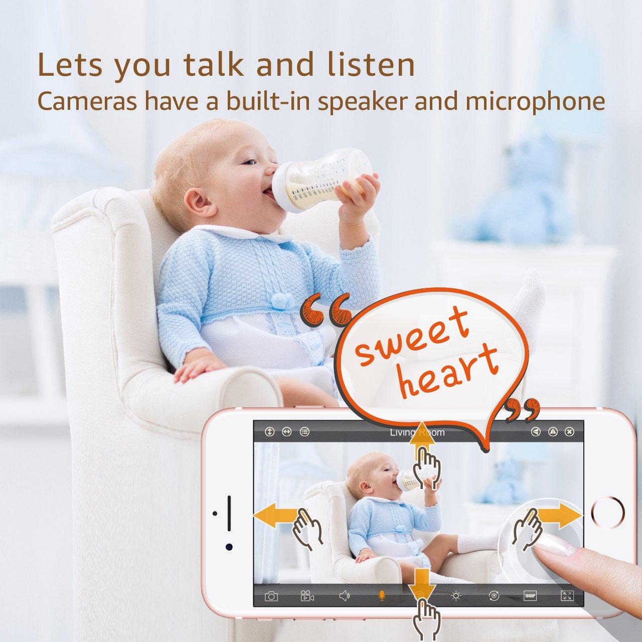 Faleemi HD Pan//Tilt Wireless WiFi IP Camera Home Security Video Transmission