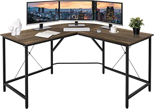 BAHOM 55″ L Shaped Corner Gaming Computer Desk