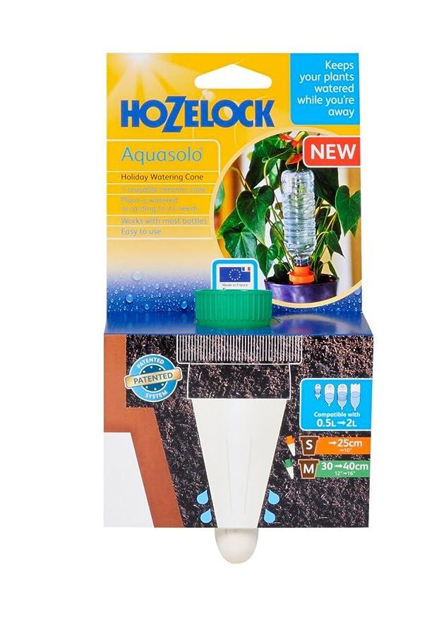 Hozelock conos de plástico con adaptador de tornillo de riego (tamaño mediano, cerámica), color verde: Amazon.es: Jardín