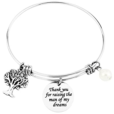 Mother in Law Jewelry Gift Thank You For Raising The Man Of My