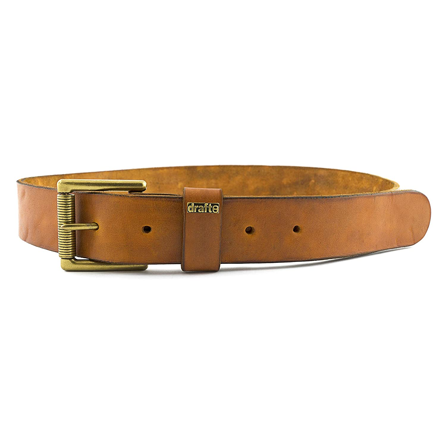 Single Brass Roller Buckle Strong/&Thick Leather Belt draft-8 Leather Goods Belt
