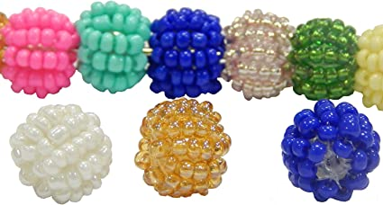 pcs Vrac 10 Packs Verre Clairon Perles de rocaille circa 5-20 mm x 2 mm Bleu Foncé 10 x2200