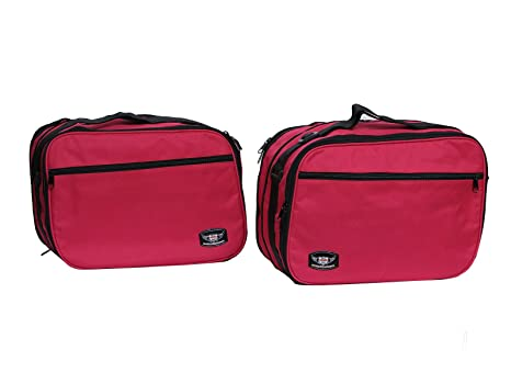 MIRIÑAQUE FUNDAS BOLSAS BOLSAS INTERIORES PARA BMW R 1200 RT K 1200 GT K 1300 GT EXTENSIBLE COLOR ROJO