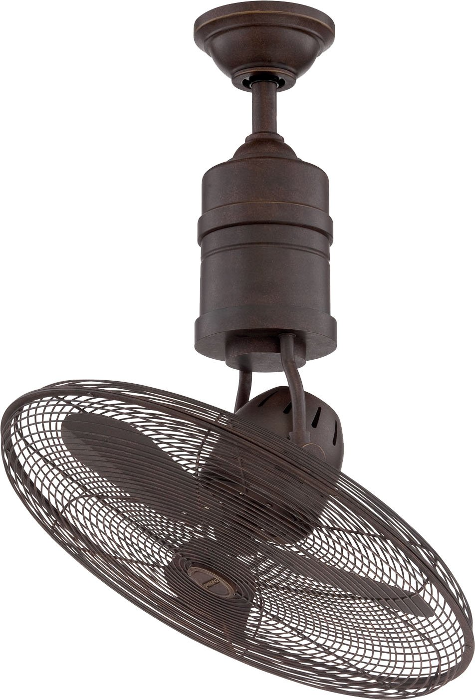 Craftmade BW321AG3 Bellows III - 18-Inch Rotating Cage Ceiling Fan, Aged Bronze Finish