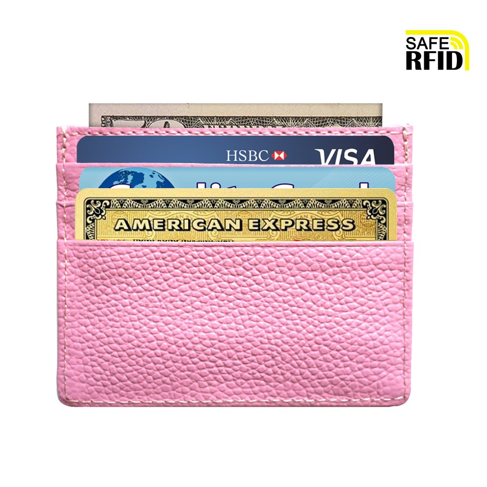 Slim Wallet RFID Blocking Minimalist Wallet Unisex Slim Card Holder With Window Zp7002bu