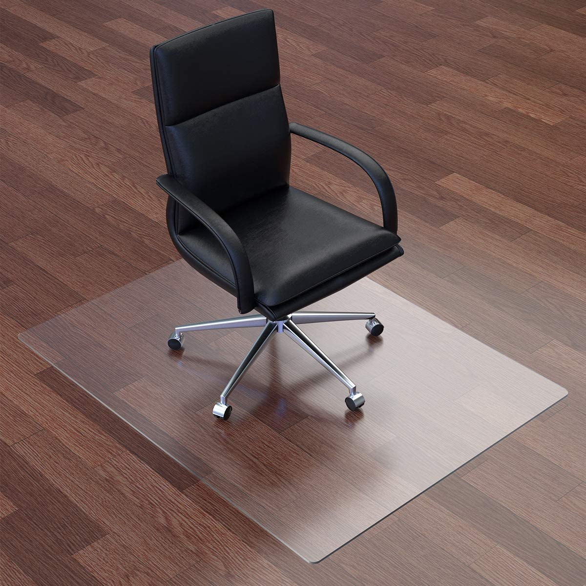 "Newgam Office Chair Mat 47""×36""×1/8"" 3 mm Thick, Fully Transparent Desk Hard Floor Chair Mat Protector, Office Chair Mat Flat Without Curling"