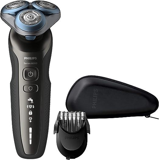 Philips S6640/44 Series 6000 - Afeitadora eléctrica en seco y húmedo con sistema de corte MultiPrecision y recortador de barba SmartClick: Amazon.es: Salud y cuidado personal