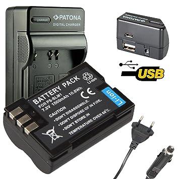 4en1 Cargador PATONA + Bateria para PS-BLM1 Olympus E-500, E-510, E-520, E1, E3, E30, E300