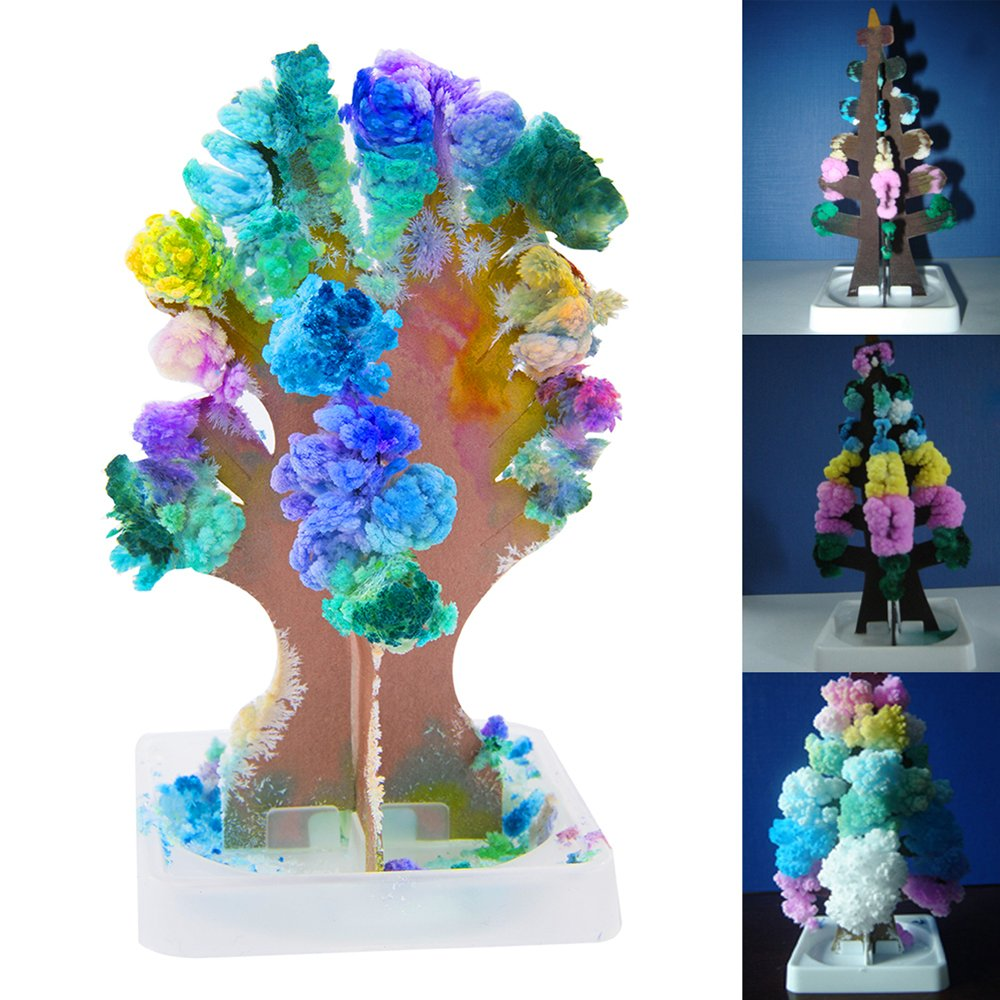10PCS Christmas Magic Growing Tree Toy Large Xmas Gift Secret Santa Stocking Filler Science Toy Paper Decoration Gift Littleduckling