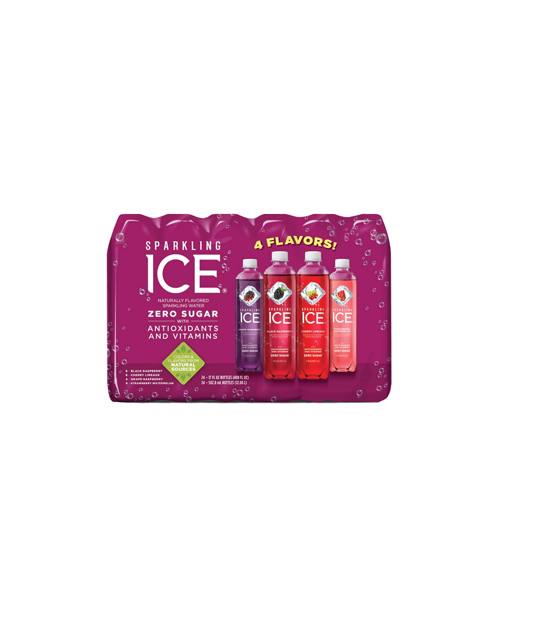 Sparkling Ice Very Berry Huge Variety Pack of 24 Bottles by Sparkling ICE